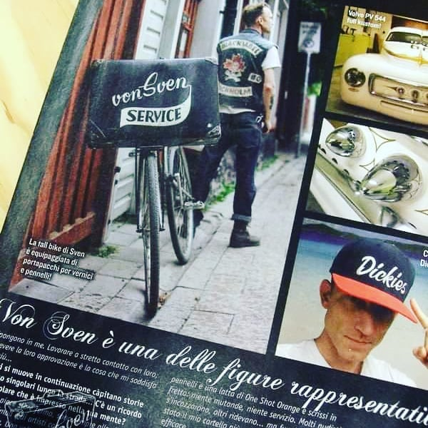 "that one time in an Italian magazine .. great pics and report by my buddy max torno ""grease monkey"" aka"