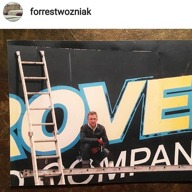 @forrestwozniak just reminded me of this oldie .. 2003 ! time flies! hired help to Carol B..? (my memory fails me :/ ) at the time for a northern minnesota billboard  designed by @mikemeyersignpainter